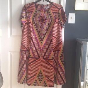 Reposh! Edgy scuba fabric a-line dress